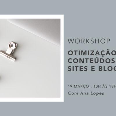 Workshop Otimização de conteúdos para sites e blogues